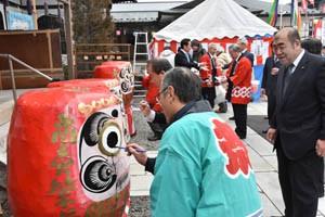190209だるま祭り開眼式*