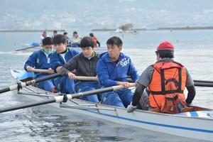 裾花中ボート体験201028